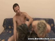 Bareback with Blonde Twink
