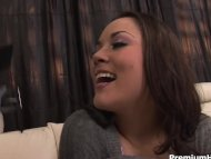 Kristina blows cock and g...