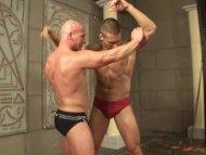Newcomer wrestler orgy