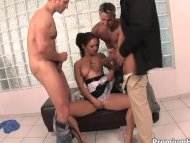 Naughty maid bukkake surp...