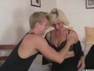 Blonde allows him drill ...