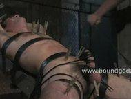 DJ endures bondage flogging