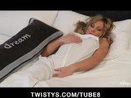 Sleeping big tit babe wak...