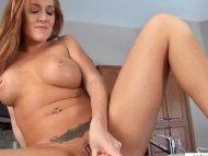 Hot milf slaps her horny ...