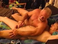 Young hunky dude gets his...