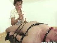 Mistress stroking helples...