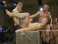 Ropes fix hands of gay sl...