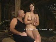 Slender hot lady dangling...
