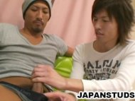 Horny Japanese studs expl...