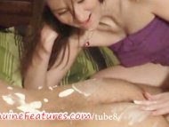Sexy Lucy licks whipped c...