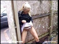 Kinky blonde babe has a r...