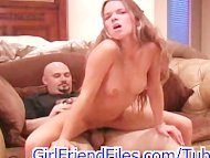 Small teen gives BJ and F...