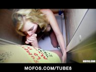 Shy blonde Czech girl agr...