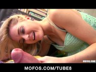 Blonde teen with a sexy f...