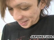 Stiff cock of japanese st...