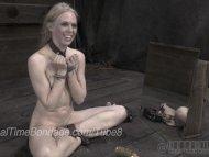 Blonde Ballerina Caned in...