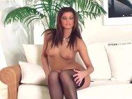 Brunette teasing in a bra...
