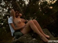 Untamed fucking in nature