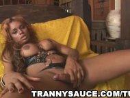 ebony tranny in leather t...