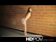 HD POV Lovely little teen...
