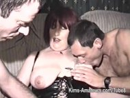 Homemade film with mature...