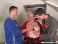 Naughty granny pleases tw...