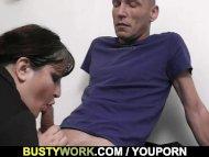 Huge titted secretary ple...