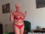 Chubby granny with saggy ...
