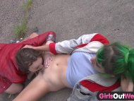 Girls Out West - Hot lesb...