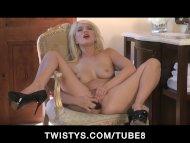 Little blonde Tiff teases...