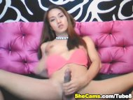 Cute Shemale Playing her ...