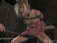 Petite Blonde Holds her P...