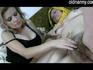 Old lesbian grandma with ...