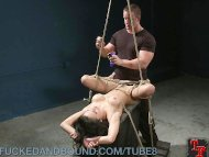 Tied Up Tramp Gets Fucked...
