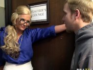 Big tit blonde teacher fu...