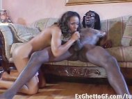 Black girl fucks a monste...