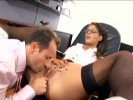Sexy secretary has sex in...