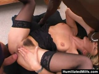 Slutty Milf Get Wrecked In A Gangbang